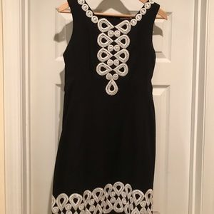 Lily Pulitzer LBD with Silver Trim